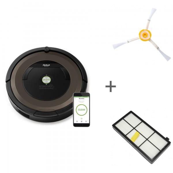 Комплект: Робот-пылесос iRobot Roomba 896 + боковая щетка + сменный фильтр