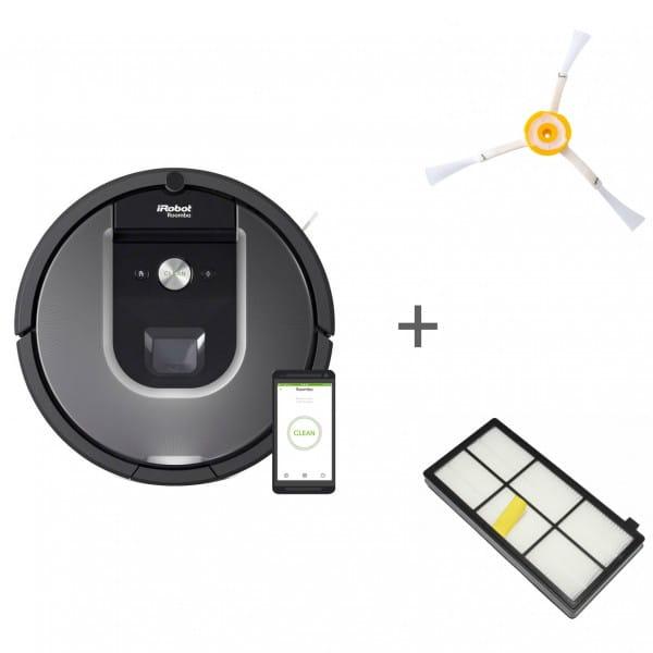 Робот-пылесос iRobot Roomba 960 + боковая щетка + сменный фильтр