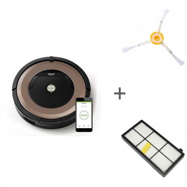 Робот-пылесос iRobot Roomba 895 + боковая щетка + сменный фильтр
