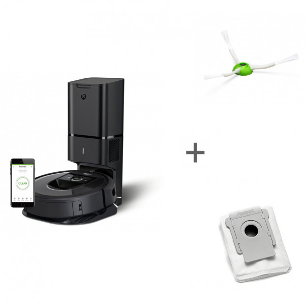 Робот-пылесос iRobot Roomba i7+ + боковая щетка + мешок для сбора пыли в подарок!